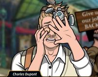 Charles arrojandole rocas1