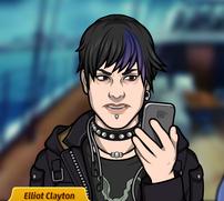 Elliot con un teléfono