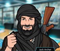 Jack disfrazado de líder rebelde