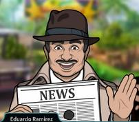 Ramirez Sosteniendo un periódico