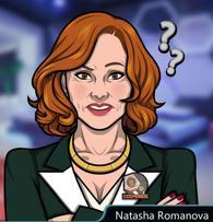 Natasha Romanova en Solo la verdad permanece