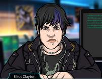 Elliot mecanografiando