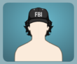 FBI Cap Curly