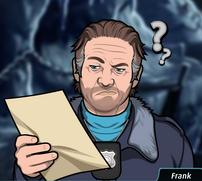 Frank Leeyendo una hoja