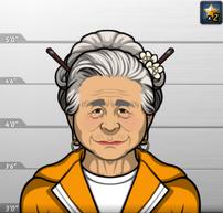 Obaasan con el uniforme de prisión