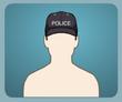 Polis Şapkası Kazınmış