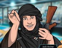 Jack como un líder rebelde