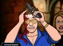 Jack con su pistola en pánico