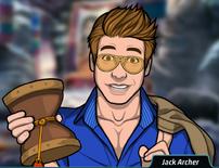 Jack sosteniendo el tambor