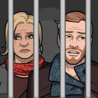 Isabelle y Sirius en prisión