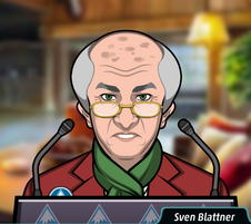 Sven en la conferencia de prensa.