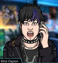 Elliot hablando por telefono sorprendido