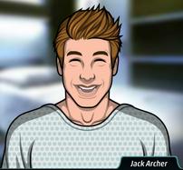 Jack con una bata de hospital