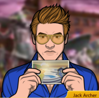 Jack leyendo una postal