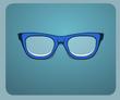 Mavi İnek Gözlüğü