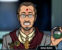 Omar con un disparo en su rostro durante su arresto