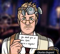 Charles con una nota