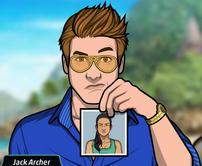 Jack con una foto de Riaja