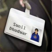 Etiqueta con el nombre de Sunil