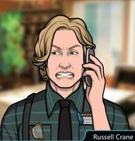 Russell en el teléfono enojado