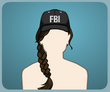 FBI Cap Brown Plait