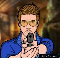 Jack sacando su pistola 4
