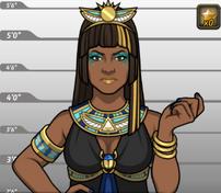 Nefertiti en Con el Oro en la Cabeza