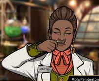 Viola oliendo una muestra