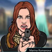 Marina Con su pistola 2