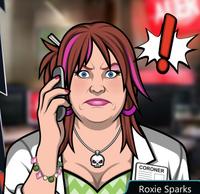 Roxie Con el teléfono, seria