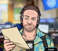 Frank Leyendo una nota