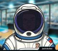 Jack como cosmonauta