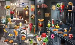 CrimeScene Kitchen Counter