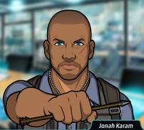 Jonah con una flecha