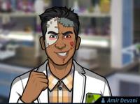 Amir Usando un maquillaje de zombie5