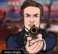 Arthur Apuntando su arma3