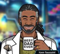 Yann con su taza