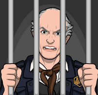 Abe en prisión