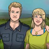 Duncan y Amy de jovenes