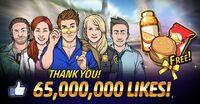 ¡65,000,000 Likes!