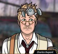 Charles sudando