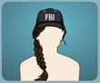 FBI Şapkası Kahverengi Örgü