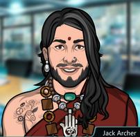Jack como Om Padmasana