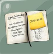 2 El cuaderno de Ramírez en el que un dibujo a Jones comiendo galletas, se puede notar fácilmente