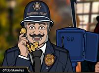 Agente Ramírez en Matarlo Bien Muerto