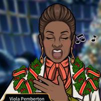 Viola cantando en Navidad