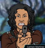 Carmen Sosteniendo su Arma