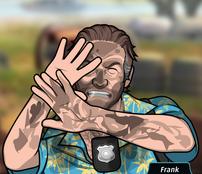 Frank Protegiendose del Polvo