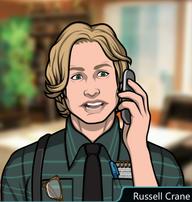 Russell en el teléfono