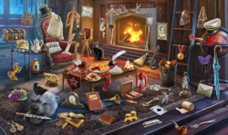 CrimeScene Study's Fireplace